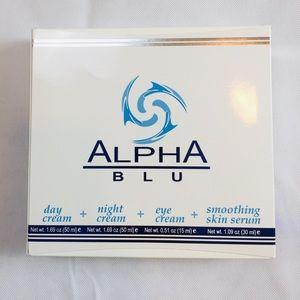 Alpha BLU skincare regimen